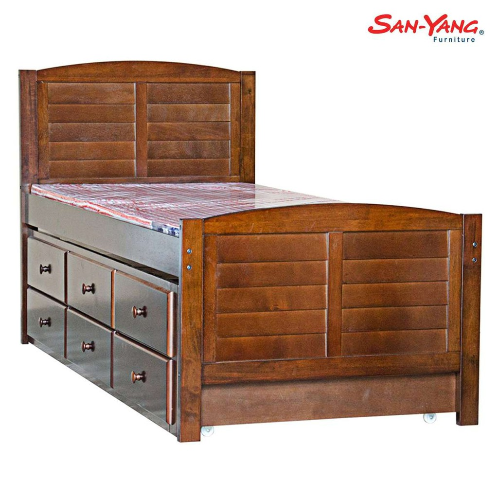 San Yang Wooden Bed Underbed Drawer
