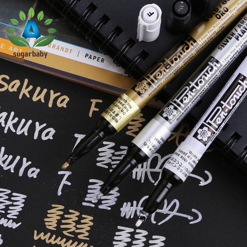 Sakura Pen-touch Permanent Paint Marker Metallic Silver Fine 1.0mm Point