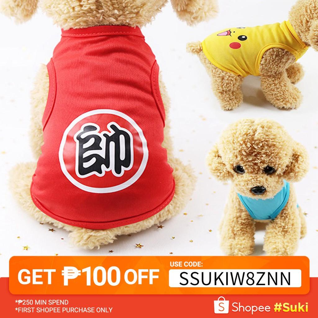 3827cde06e2c6 Cartoon Pet Vest Puppy Dog Clothes 6 Color XS-XXL JJ0840