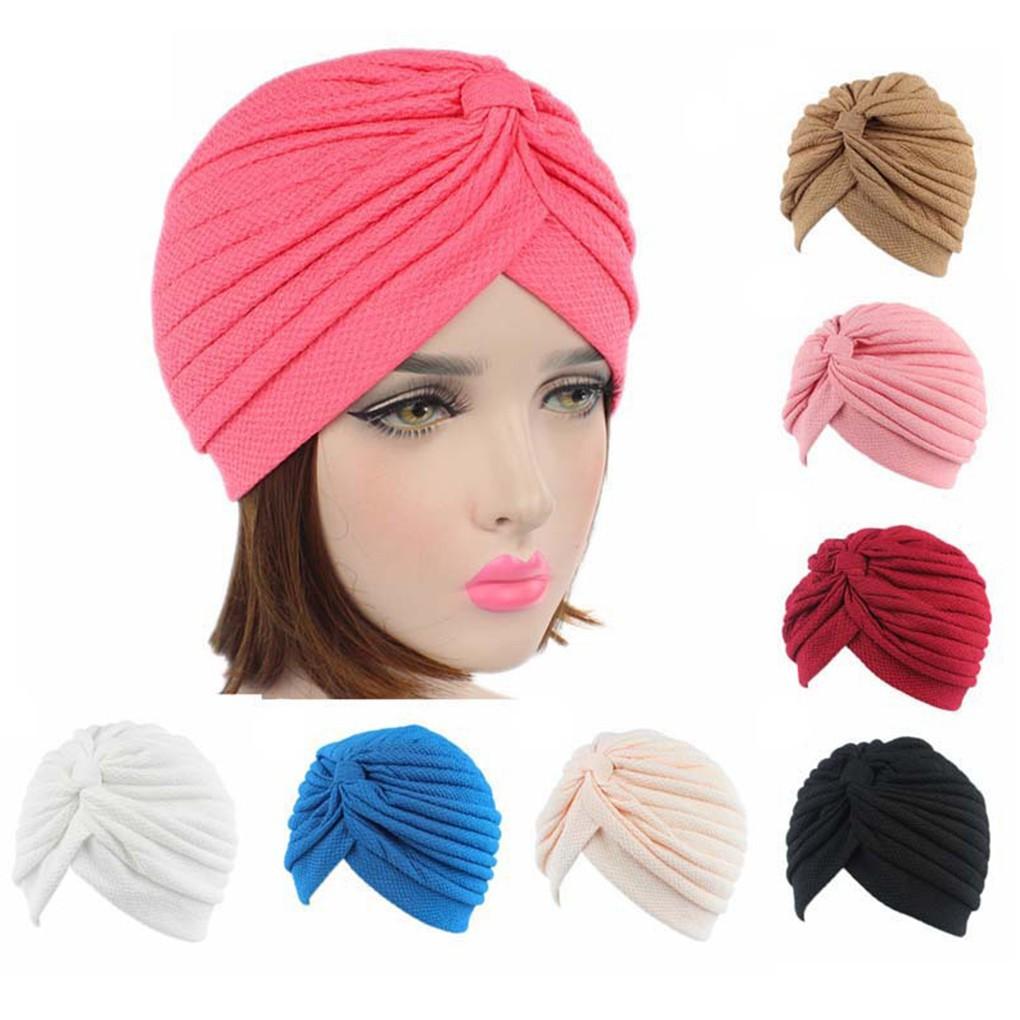 Head Wrap Lady Velvet Bonnet Hat Chemo Turban Big Bow Hijab  69840fea33c1