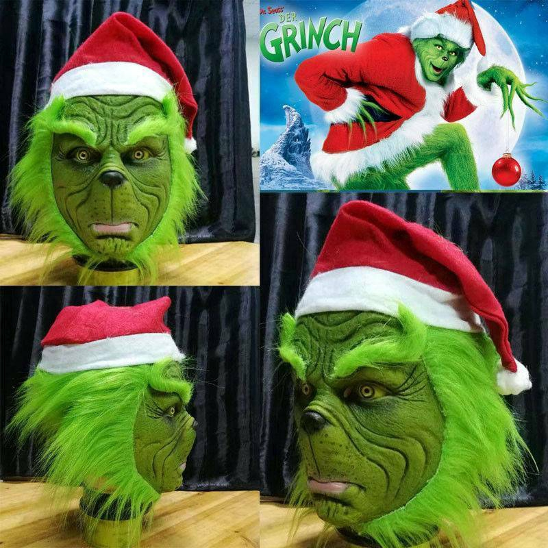 The Grinch Cosplay Mask Costume Helmet How the Grinch Stole Christmas Halloween