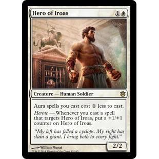 White Creature Rare Born of the Gods MTG NM//M Hero of Iroas