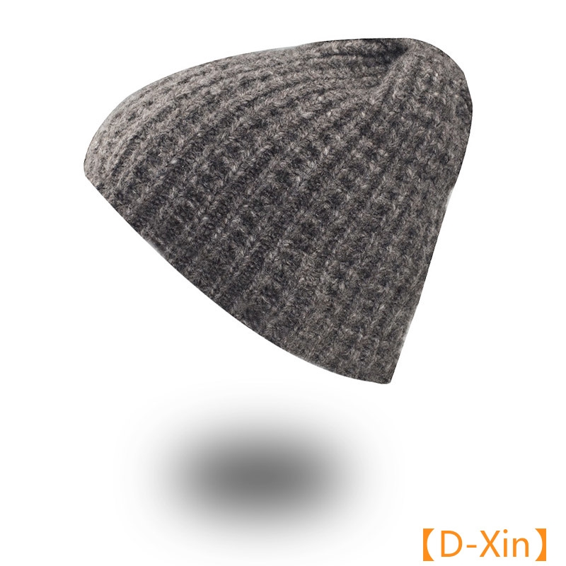 fb7c0af612 Winter Beanies Woman Hand knitted wool hat Caps Mask Gorras Bonnet Warm  Baggy Winter Hats For M