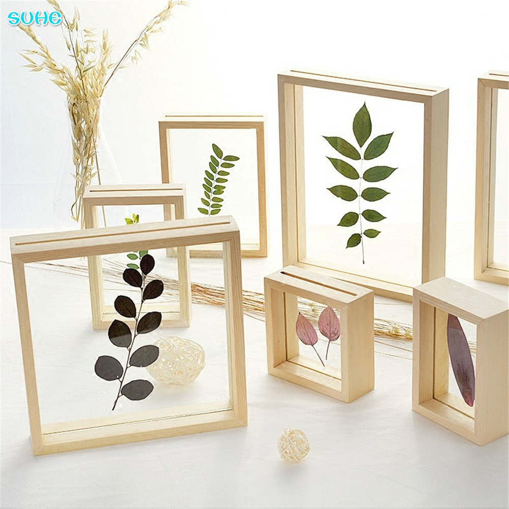 SUHE Wooden Vintage Mini Multi Photo Pictures Frames Home Decor