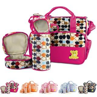 d6680111a3 5 Pcs Baby Changing Diaper Nappy Bag Mummy Mother Handbag Multi-functional  Set