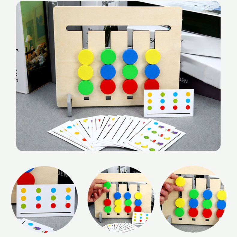 Kids' Educational Toys Four-color Fruit Logic Game Kindergarten Teaching  Aids | Shopee Philippines