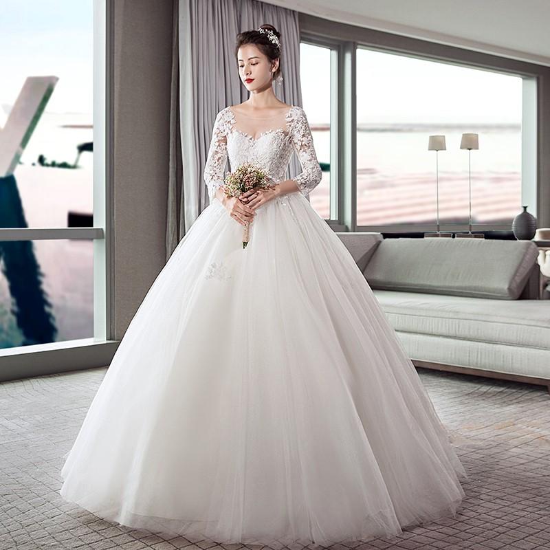 Xjw Verawang Long Sleeve Wedding Dress 2019 New Bride Wedd