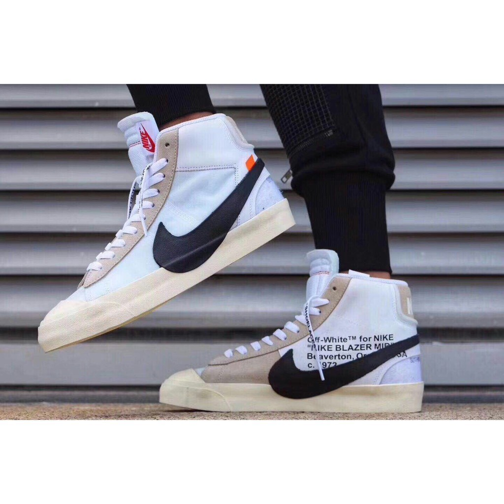 innovative design 5c4a2 3752f top quality NIKE x OFF-WHITE BLAZER MID skateboard shoe for men womens    Shopee Philippines