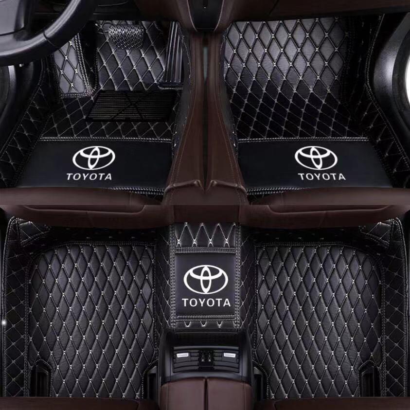 Toyota Floor Mats >> Customized Full Coverage Leather Car Matting For Toyota Innova