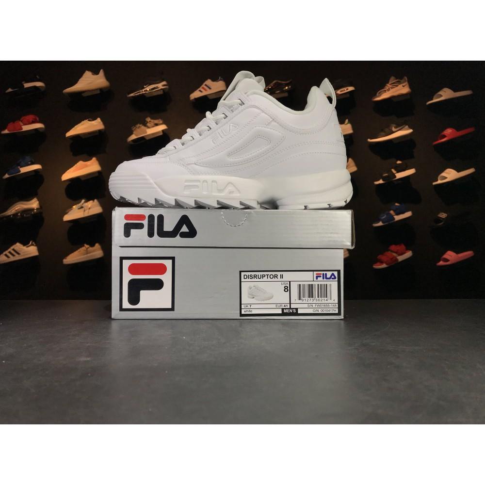 129abce4 Original Fila FS1HTA1075X PNK 2 generation Destroyer pure white ladies add  casual shoes