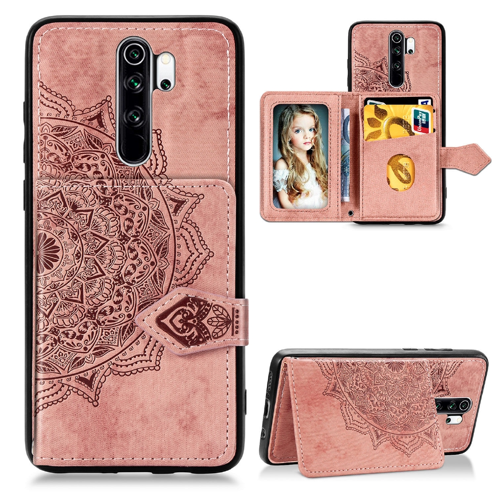 Mandala Wallet Case Xiaomi Redmi Note 8 Pro 8t 8a Leather Card Package Phone Cover Shopee Philippines
