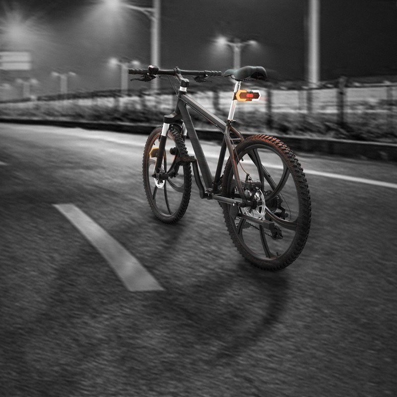 4PCS Bike Turn Signals Light Front and Rear w// Smart Wireless Remote Control