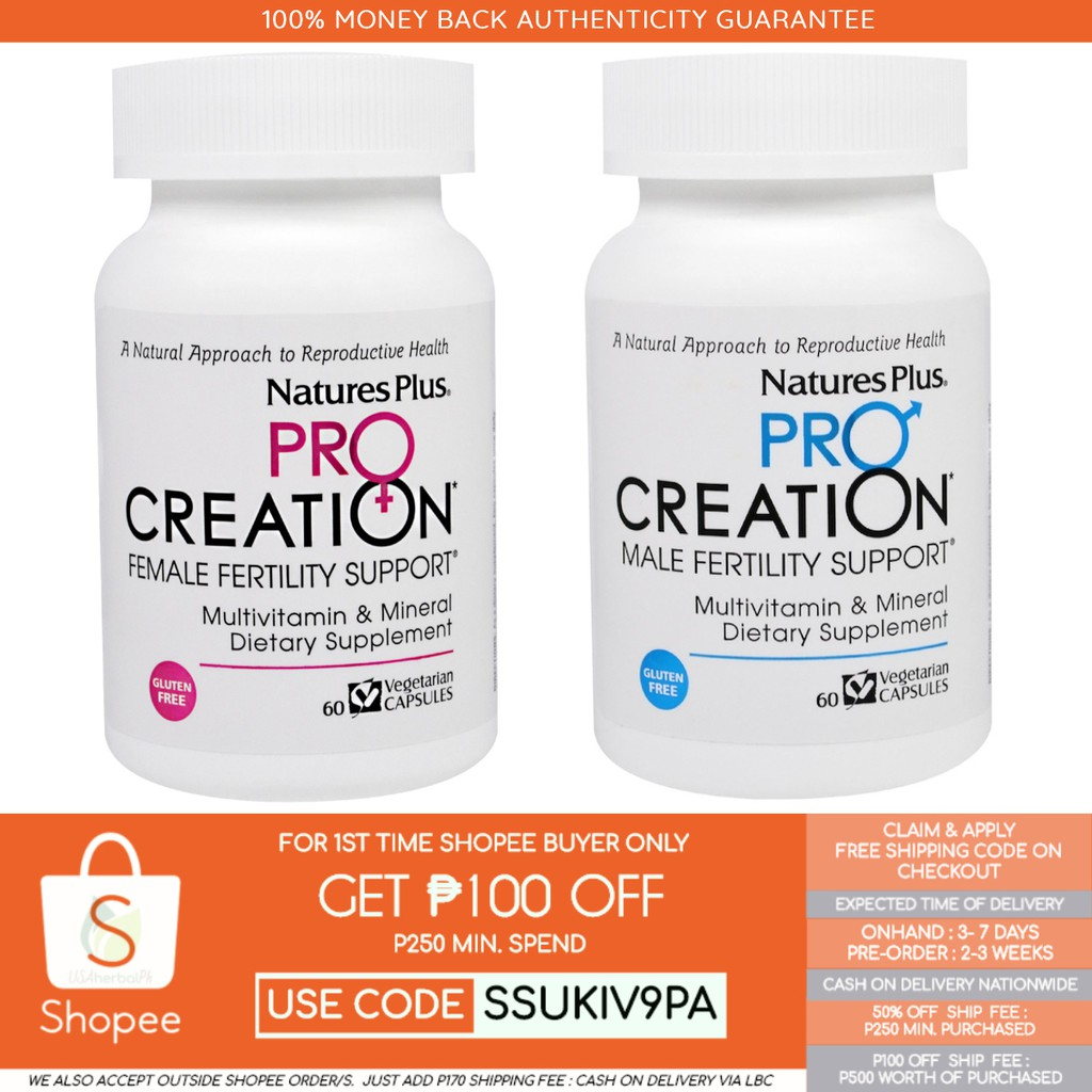 Onhand ProCreation, Female & Male Fertility Support, 60 caps