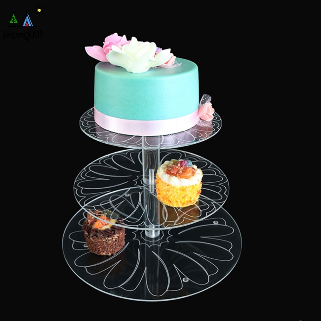 3 X CLEAR ACRYLIC TUBE CAKE PILLARS WEDDING 3 INCH