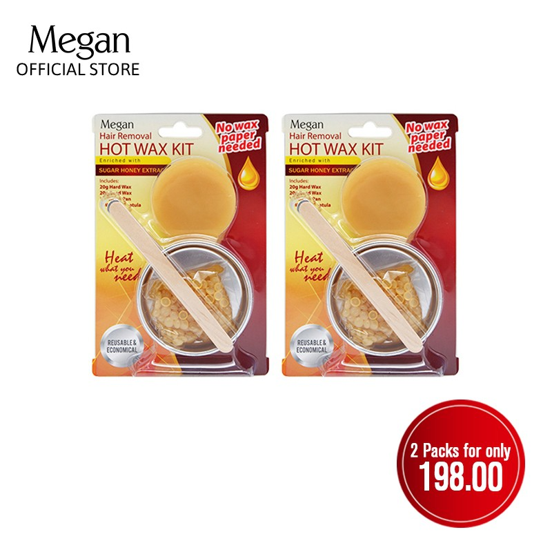 Megan Sugar Honey Hot Wax Kit 2 Packs Shopee Philippines