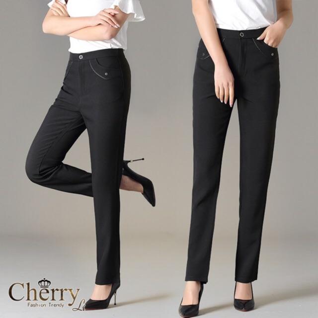 COD]slim straight cotton Slacks Pants Women Ladies Pants Office Wear Office Work  Pants#381 detail | Shopee Philippines