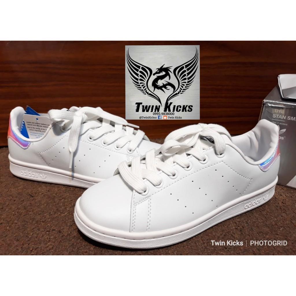 brillo de color diseño novedoso salida online Adidas Stan Smith J 'White Hologram' | Shopee Philippines