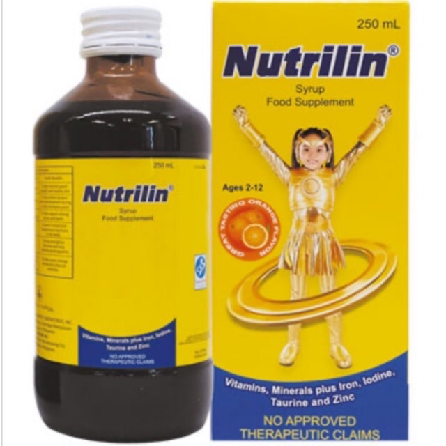 NUTRILIN Syrup Food SUPPLEMENT Vitamins Minerals for KIDS 250 ml ...