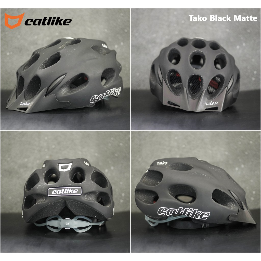 Catlike Tako Urban Bike Helmet with Visor White Matte, Medium