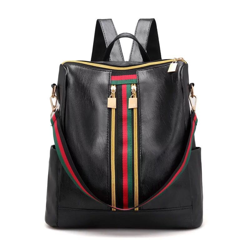 b04f25efd010 2 Way Korean Water Repellant Sling Backpack Bag Leather Bag