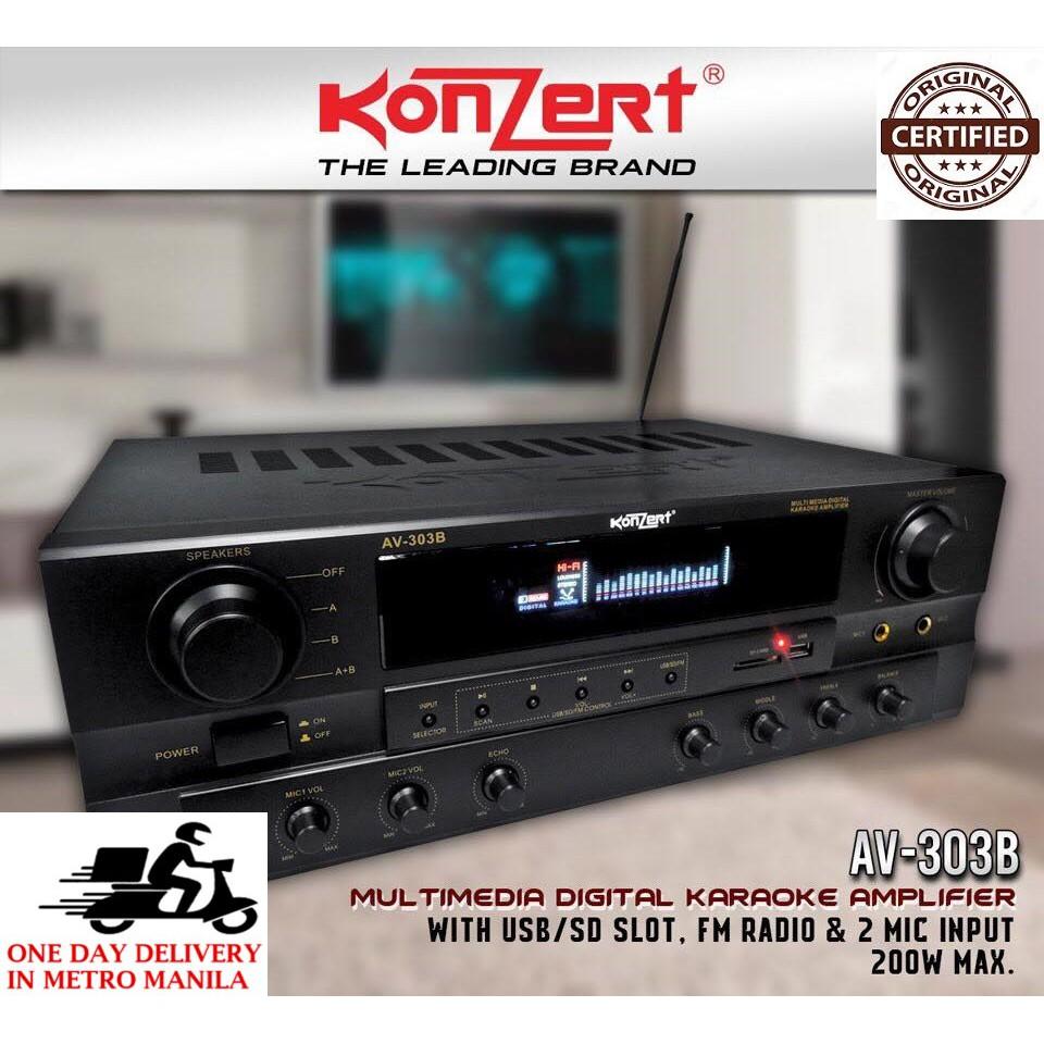 Konzert AV-303B BT Karaoke Amplifier (New and Latest Model)