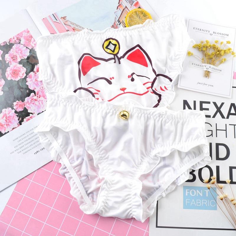 Women Pussycat Panties Anti Emptied Cat Printing Seamless Hot Briefs Underwea Nd