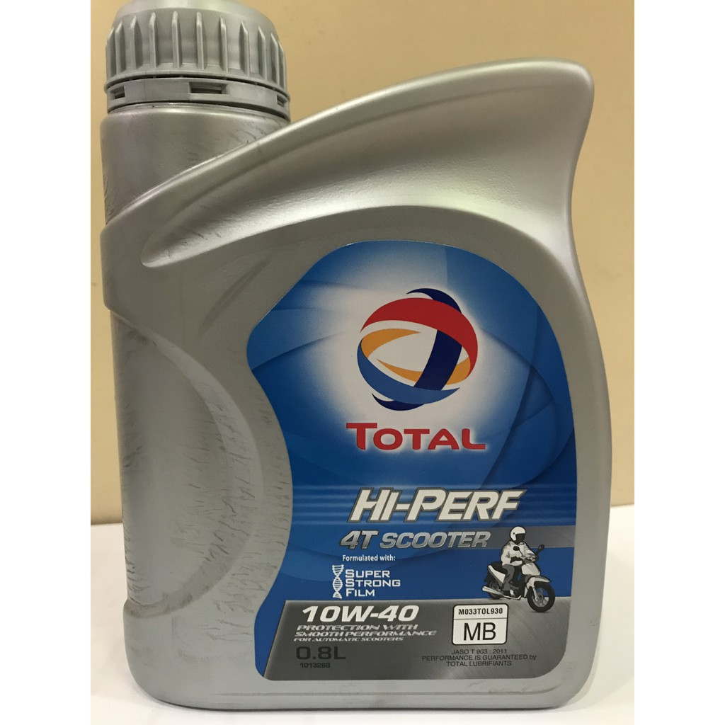 Total Hi Perf 4T Scooter Semi synthetic 10W-40 800mL