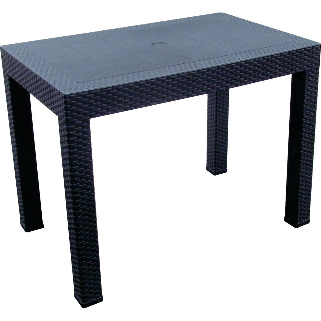 """Plastic Dining Table Rattan Table 24""""X38"""" 