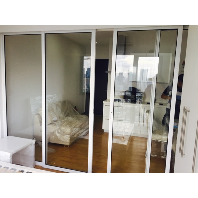 Rush Sliding Glass Door Partition Panel Shopee Philippines