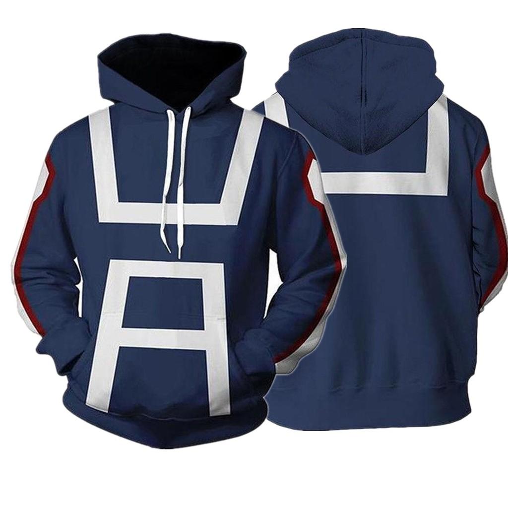 My Hero Academia Bakugou Katsuki Mens Hoodie Sweatshirt Cosplay Pullover Jackets