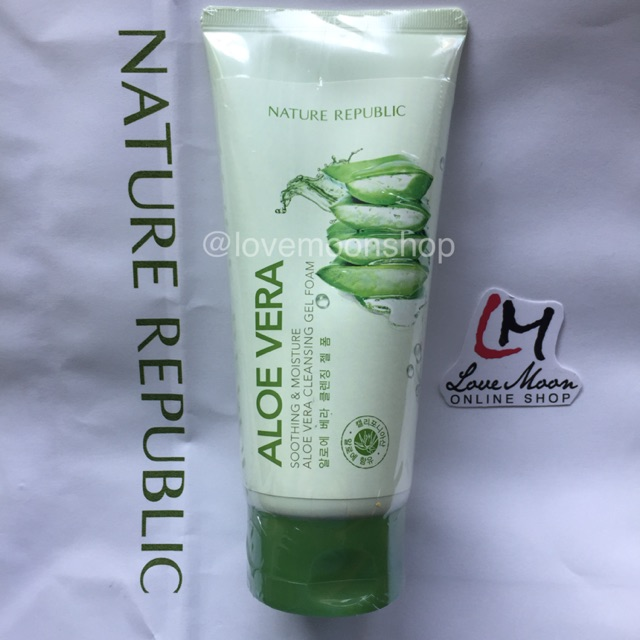 NATURE REPUBLIC SOOTHING ALOE VERA CLEANSING GEL CREAM 150ml | Shopee Philippines