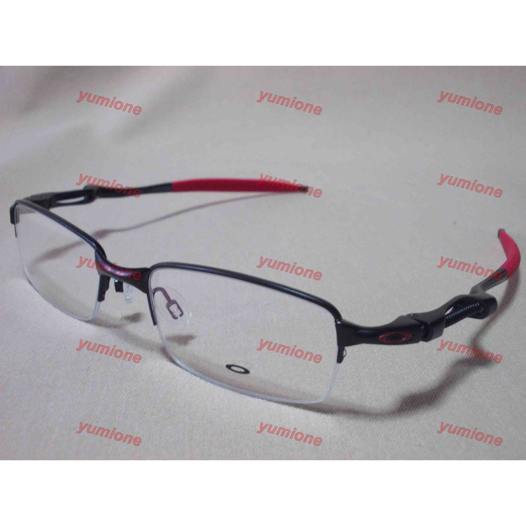 5e99b20b56 Spike Rimless Black Red (52-18) Rx Oakley Eyeglasses Frame