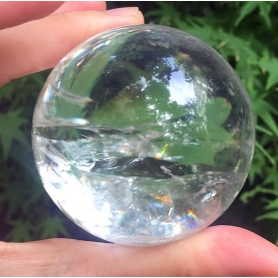 Rainbow!29 mm Natural Rainbow quartz crystal Sphere Ball crystal healing-13
