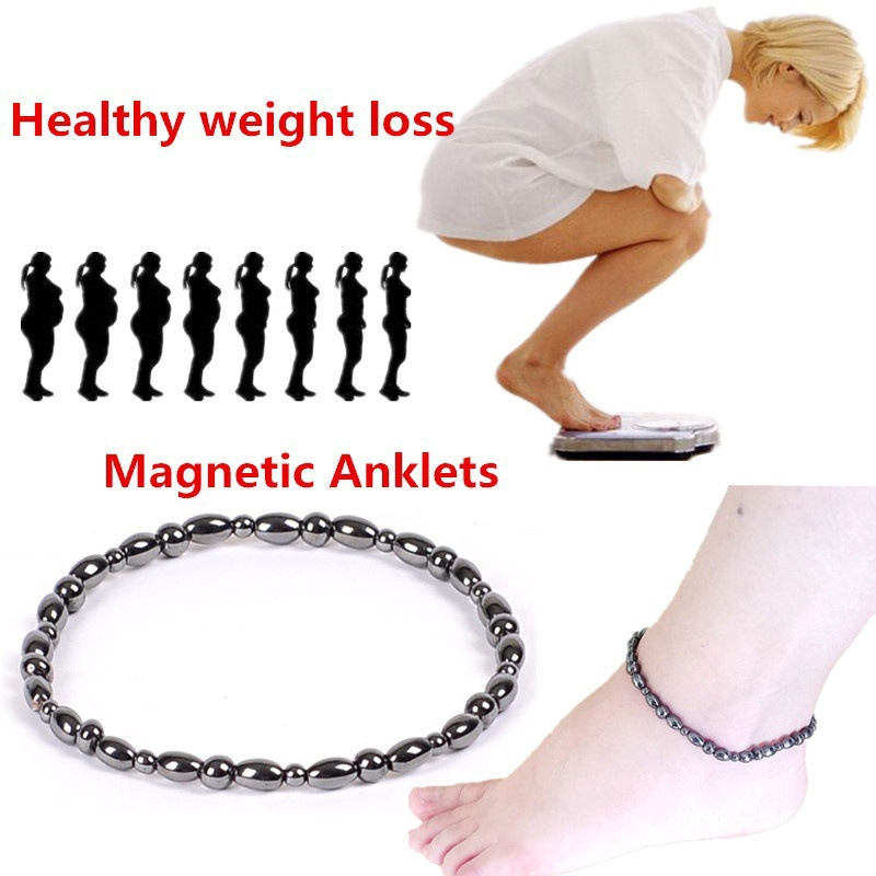 97f6f15523c Natural Stone Beads Anklet Bracelet Healthy Weight Loss Magnetic Care Foot  Chain