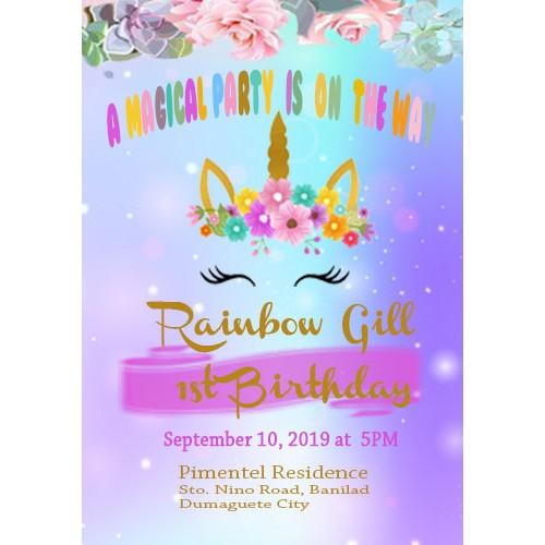 Miraculous Unicorn Birthday Invitation Card Shopee Philippines Funny Birthday Cards Online Fluifree Goldxyz