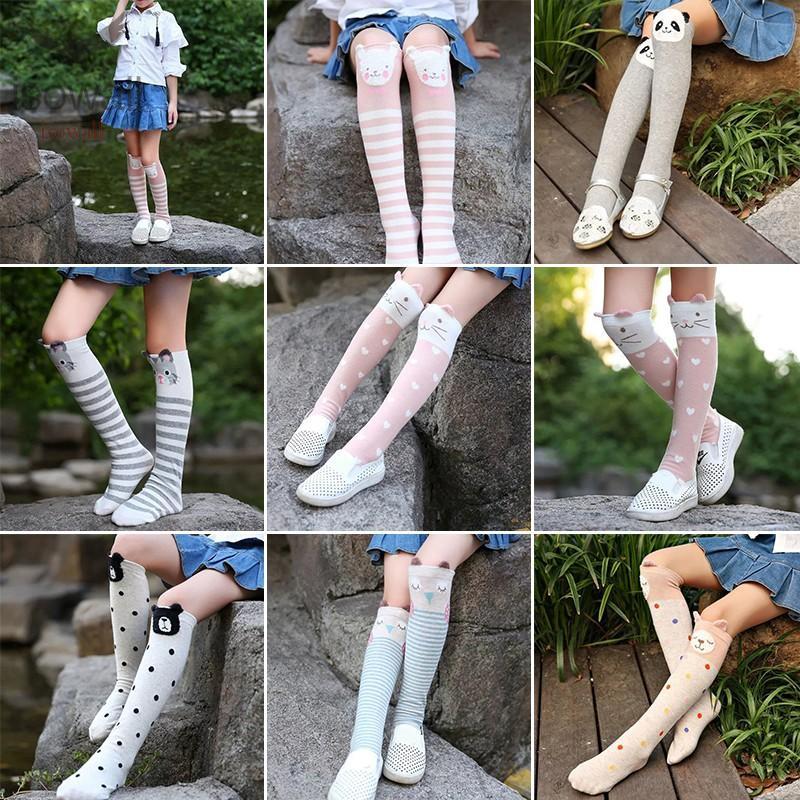 Tights Stockings Leg Warmer Kids Baby Knee High Long Socks Cotton New Fashion