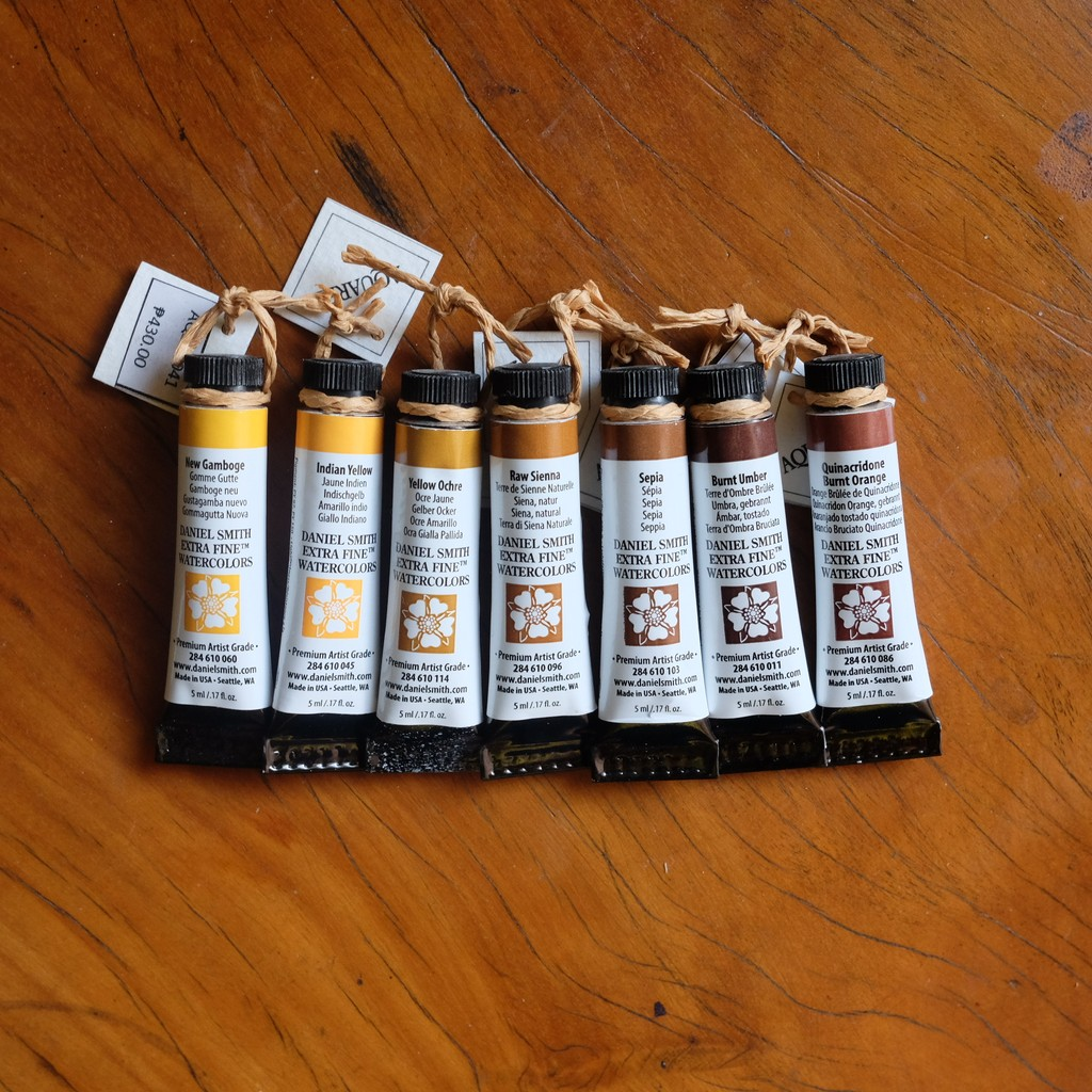 Daniel Smith 5 mL Paint Tubes (Yellows/Browns)