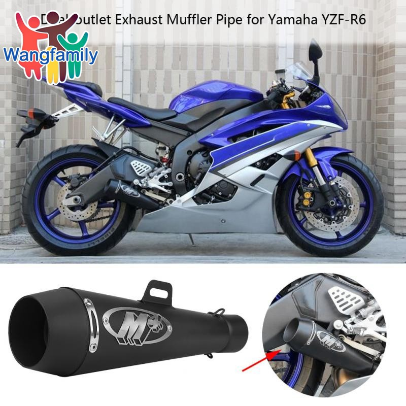 WF Universal 51mm Motorcycle Exhaust Escape Muffler Pipe