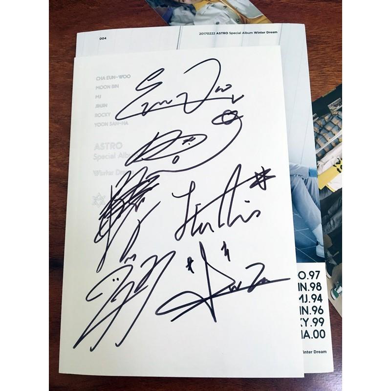 signed Astro aautographed group album winter dream k-pop