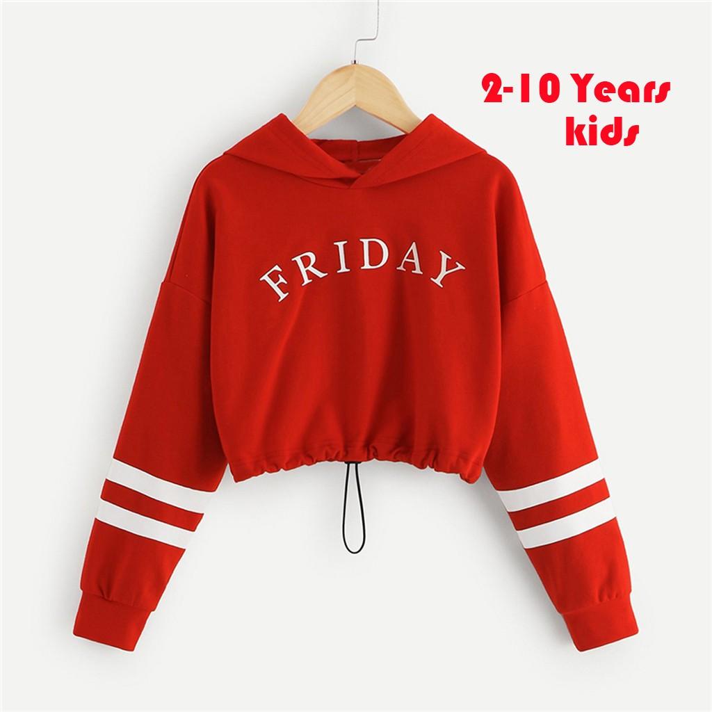 2-10 Yrs Kids Pullover Sweatshirt Sweater T-Shirt Casual Top 2-10 Years Child