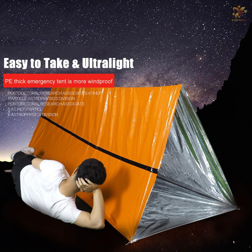 Outdoor First Aid Survival Emergency Tent Blanket Sleep Bag Camping Shelter