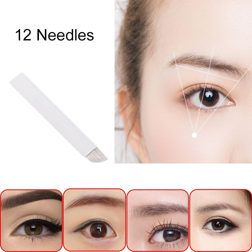 50Pcs Makeup Eyebrow Tattoo Blade Microblading Needles Portable DIY Professional | Shopee Philippines