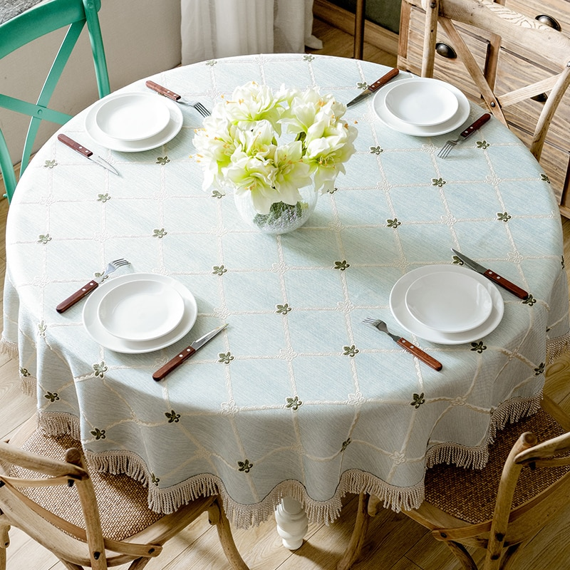 American Large Round Tablecloth Cotton And Linen Round Table Cloth Home European Rectangular Shopee Philippines