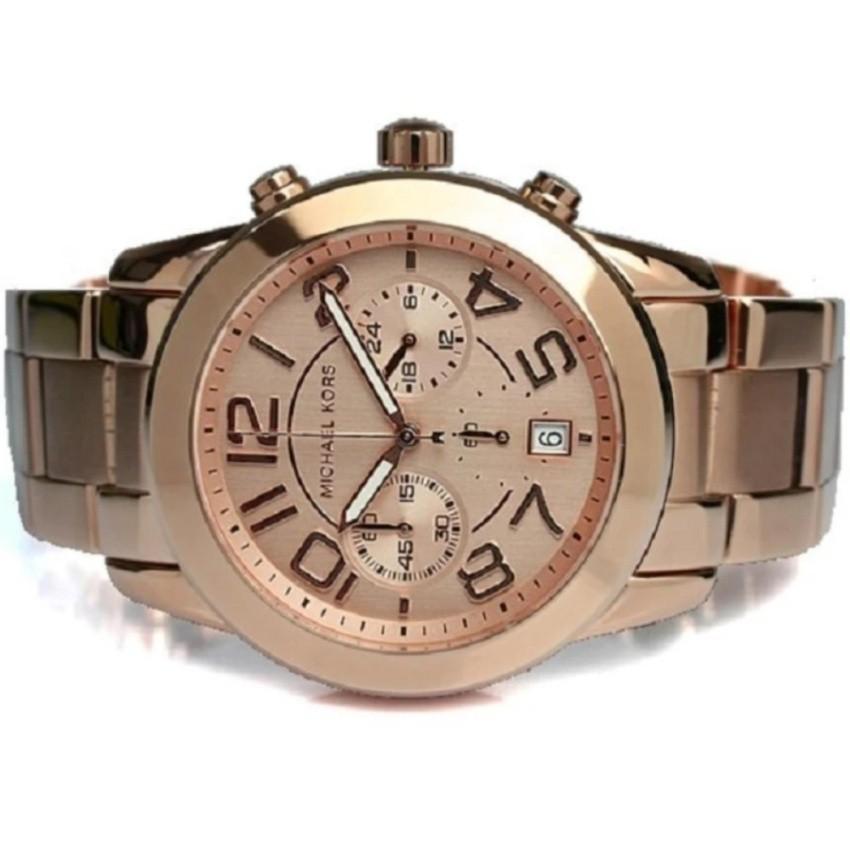 9305fcc3f5a1 Michael Kors Mercer Women s Rose Gold Stainless Steel Strap Watch MK5727