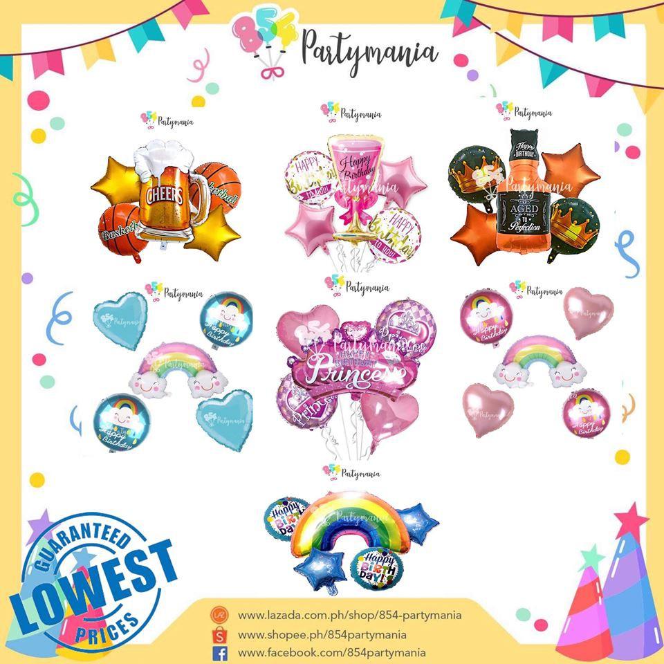 Foil Balloon Set 5pcs Birthday Parties 5in1