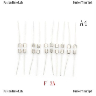 10pcs F1A//1.5A//2A//3A//5A Fast Blow Glass Tube Fuse Axial Leads 3.6 x 10mm 250V YL