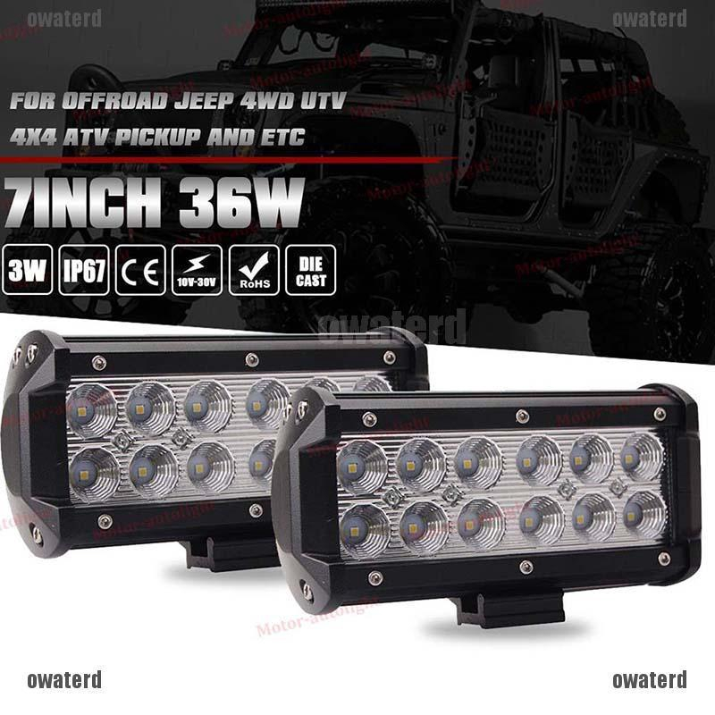 36w 12 Led Spot Beam Lamp Work Light Bar For 4x4 Offroad Atv Ute Suv Shopee Philippines