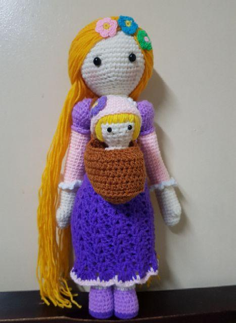 Amigurumi Rapunzel crochet pattern – Green Frog | 640x467