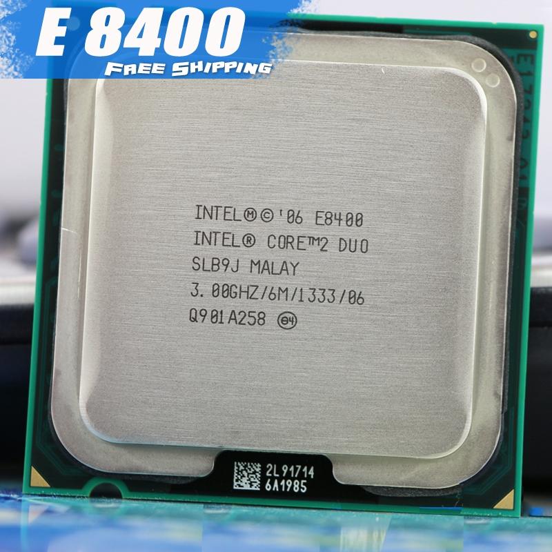 Intel E8400 Processor Dual-Core 3 0Ghz FSB 1333MHz 775 CPU
