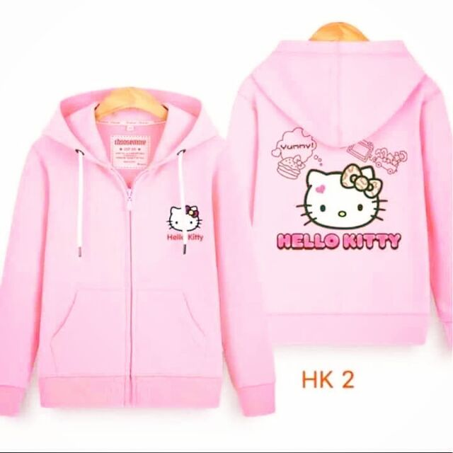 9a35a8aa8 hello kitty hooded long sleeve sweatshirt | Shopee Philippines